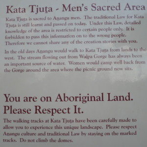 Kata-Tjuta sign