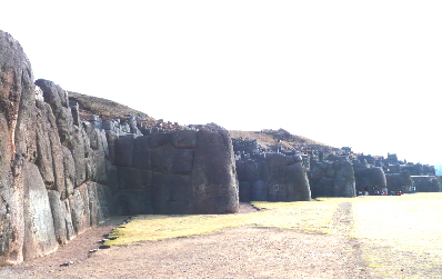 The zigzag walls of Saqsaywaman main temple site