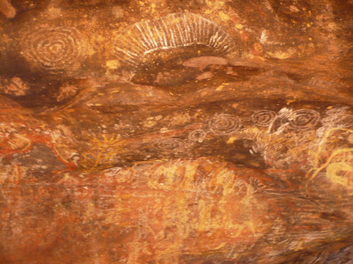 Uluru rock paintings