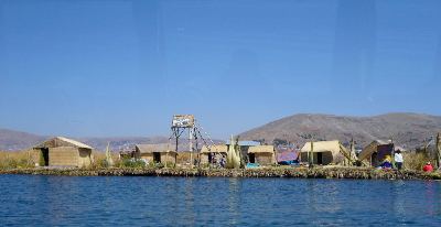 One of the islands at Uros