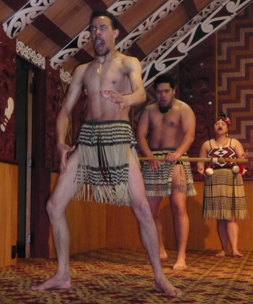 Maori warrior doing the Haka