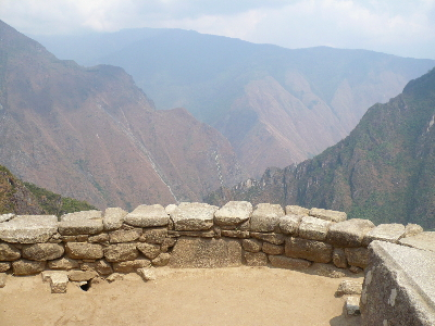 The Western tower at Machu Picchu facing Llactapata