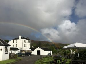 Rainbow over the Jura Distillery