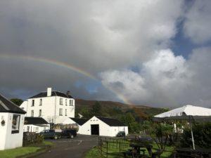 Rainbow over the Jura Distillery