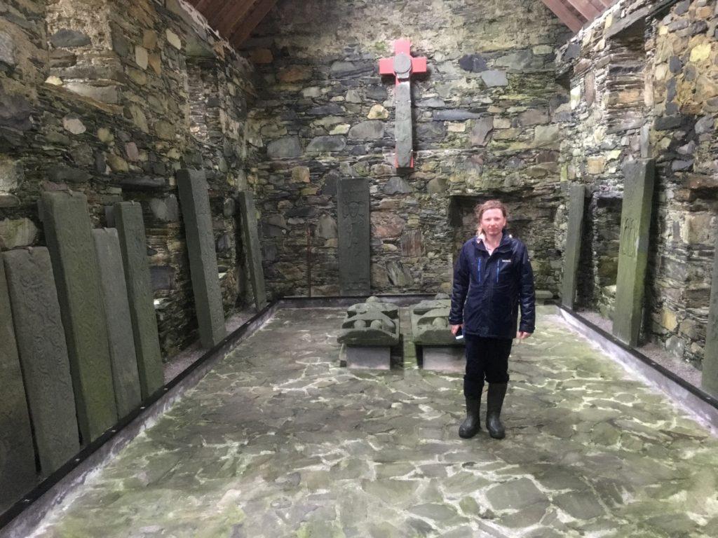 Oronsay Priory carved graveslabs