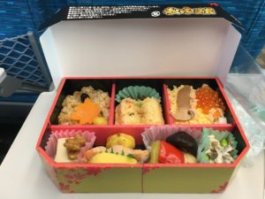 Bento on the Shinkansen to Osaka