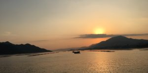 Sunset over Miyajima Island