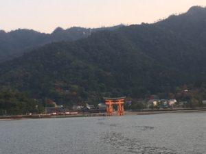 Itsukushima Shrine, from the ferry