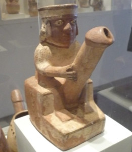 A Moche Ceramic at the Lorca Museum in Lima