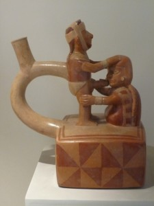 A Moche Ceramic at the Lorca Museum in Lima, Peru