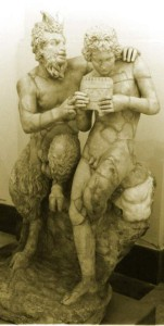 Pan and Daphnis, Roman reproduction of Greek original